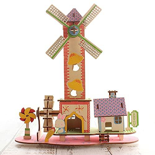 CYOO 나무 블록 장난감,성인을위한 3D 퍼즐。아이 나이를 위한 건축술 건물 모형 장비