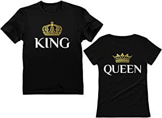 King & Queen Matching Couple Set Outfits His & Hers T-Shirts