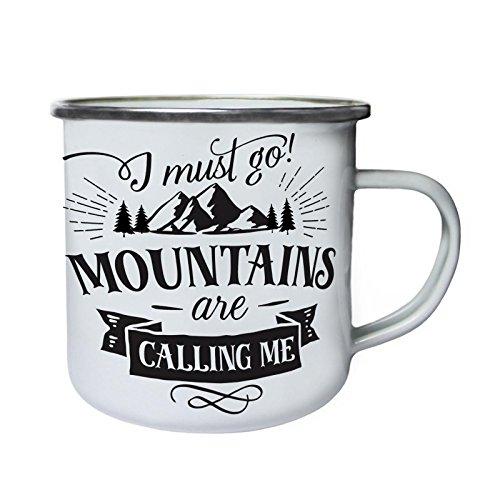 INNOGLEN Berge Rufen Retro, Zinn, Emaille 10oz/280ml Becher Tasse n423e
