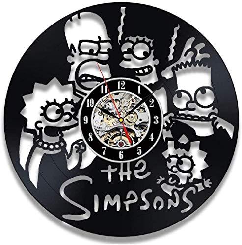 Vinyluhr Wanduhr von Simpsons Fan