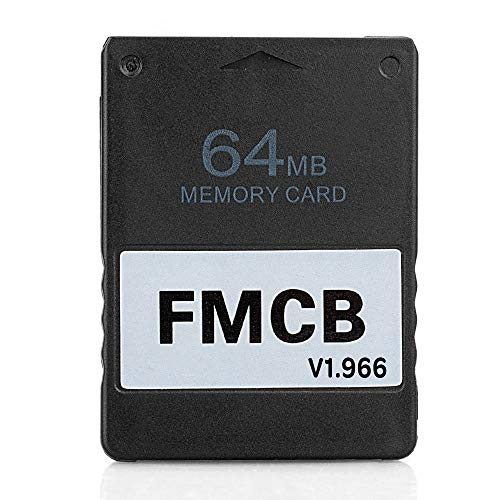 RGEEK Free McBoot FMCB 1.966 PS2 Memory Card 64MB for Sony Playstation 2 PS2,Just Plug and Play, Help You to Start Games on Your Hard Disk or USB Disk