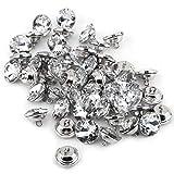 Botones de diamantes de imitación de cristal acrílico de 50 piezas redondos con bucle de metal para coser, ropa, tapicería de sofá, decoración de pared, manualidades, fabricación de joyas(20mm)