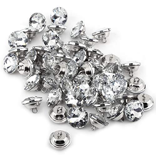 50 botones diamantes imitación, botones crista-l botones brillantes para manualidades tapicería, decoración,...