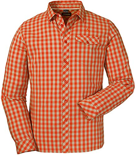 Schöffel Shirt Miesbach3 Chemise Homme, Pureed Pumpkin, FR : L (Taille Fabricant : 52)