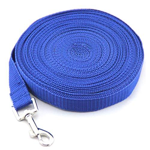 Pet elastisches Seil reflektierende Haustier Hund Zugseil Ausbildung elastische Hundehalsband Gürtel Leine (Color : Blau, Size : 3m*2cm)