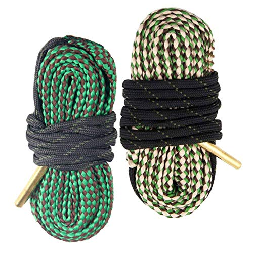 AIRSSON 2pcs Bore Cleaner Snake Pistol Rifle Shotgun Gun Cleaning Rope Kit for 22 223 30 308 Cal 5.56mm 7.62mm