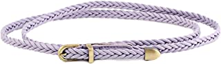 WZXSMDY New Hand-Woven Belt Female Pin Buckle Retro Casual Wild Thin Belt Waist Rope Decoration (Color : Purple, Size : 103cm(Without Buckle))