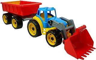 TechnoK 3688 Tractor with Trailer, Size-65 x 17.5 x 16 Centimetre, Multi-Colour