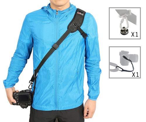 WITHLIN Paquete de fotografía profesional - deporte bandolera con cadena de seguridad para cámaras SLR réflex DIGITAL (Canon Nikon Sony Olympus Pentax, etc)