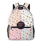 Lawenp Mode Unisex Rucksack Produkte Bookbag Leichte Laptoptasche für Schulreisen Outdoor Camping