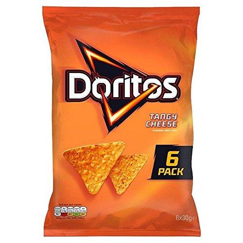 Doritos formaggio piccante chips di tortilla 6 x 30 g Doritos Tangy Cheese Tortilla Chips 6 x 30 g Doriti. 180 g.