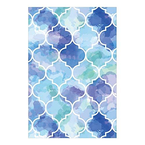 Alfombra nórdica para puerta de casa, con anillo de alambre para la entrada, alfombra de sastrería de pie, alfombra de cocina de lujo (color: B, tamaño: 120 x 180 cm)