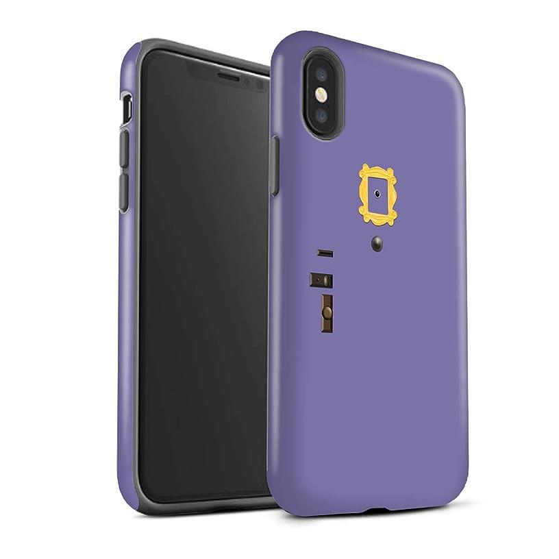 STUFF4 Matte Tough Shock Proof Phone Case for Apple iPhone Xs Max/Monica's Purple Door Design/Funny Sitcom TV Parody Collection