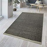 TT Home - Alfombra tejida a mano de mezcla de algodón y lana, diseño de panal, color negro y gris, algodón, Negro , 80 x 150 cm