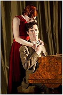Benedict Cumberbatch Playing Piano and Being Held by Woman in Red Dress 8 x 10 Photo