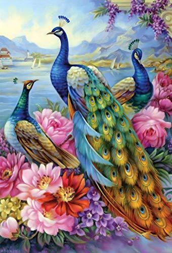 Mural Puzzle Juego De Diseño Colorido De Los Cardenales del Jardín del Rompecabezas De 5000 Piezas