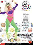 Smiffys 80s Work Out Costume, with Jumpsuit