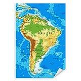 Postereck - 1049 - Südamerika Karte, Länder Hauptstädte