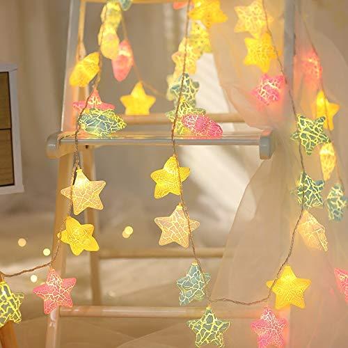 stort ansikte katt LED färg blinkande ljus ljusslinga stjärna flicka hjärta rum dekoration, 6 m 40 lamppropp, fri storlek