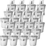 Set di 24 vasi appesi balcone vaso di fiori balcone appeso pentola pianta per appendere piantatrice per appendere