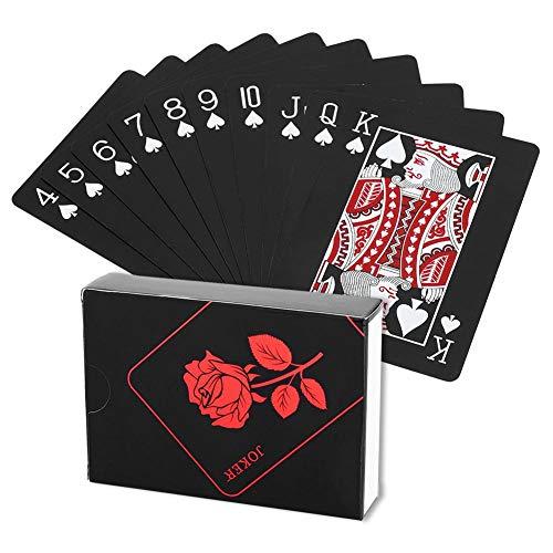 Dilwe Poker Kartenspiel, Playing Cards wasserdichte Pokerkarten Poker Tricks Tool Kreative Spielkarte für Zauberrequisiten Pool Beach Water Kartenspiele