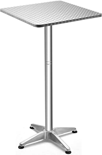 discount Giantex Bar outlet online sale Side Table Aluminum W/X-Shaped Base and Anti-Scratches Rubble Pads,Foldable and Adjustable Design for Home or Commercial Use,Garden,Living Room Pub wholesale Cocktail Table (1) outlet online sale