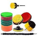 Kaxofang Juego de 15 piezas de herramientas de limpieza para taladros con cabezal largo para azulejos de la cocina
