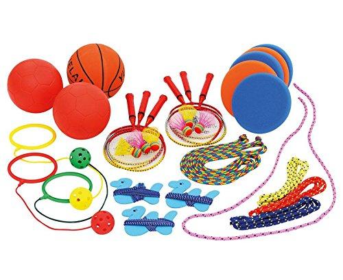 Betzold 754859 - Spielkiste und Pausenkiste - Spiele-Set Kinder Outdoor Gruppen-Set