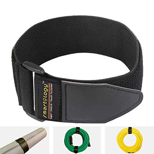 Smartology Storage Straps, Hook and Loop Fastener Strap, Cinch Strap, Extension Cord Organizer, Reusable and Super Stretch, 2' x 18' 12 Pack, Garage and RV Storage Accessories