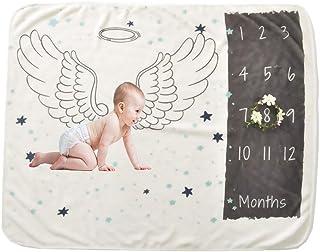 Large Size Photo Props Super Soft Fleece Monthly Baby Milestone Blanket