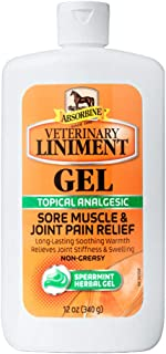 Absorbine Veterinary Liniment Topical Analgesic Sore Muscle and Arthritis Pain Relief Warming Liniment Rub, 12 Ounce Gel