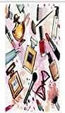 Cortina de Ducha para Puesto de Moda, cosmética y Maquillaje, patrón temático, Perfume, lápiz...