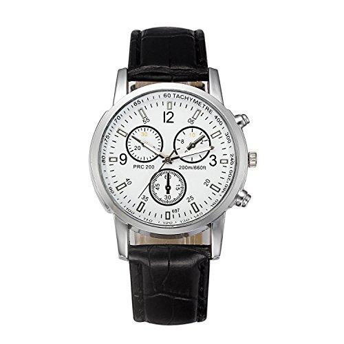 SUPOID Reloj de Pulsera, clásico, Casual, con Correa de Acero Inoxidable, cronógrafo, Resistente al Agua, Relojes para Hombre