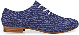 Spires Decor Durable Leather Shoes,Fragmented Spirals in Enigmatic Psychedelic Environment Hyperbolic Mystical Design for Women,US 5