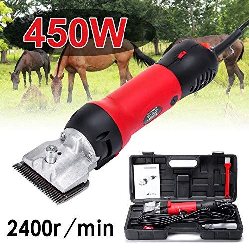 AMITD Scheermachine voor paarden professioneel, 450W & 6 modi regelbaar paardenschaar tondeuse elektrische paarden schaar, accessoires voor paarden | paarden verzorging varken koe