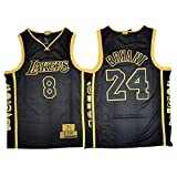 ZCGS Kobe Bryant - Camiseta de baloncesto para hombre, color negro