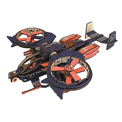 3D Driedimensionale Houten Jager Puzzel Bouwstenen Vliegtuig Monteren Speelgoed Montage DIY Model Volwassen Decompressietools Kinderen Vakantie Cadeau,B