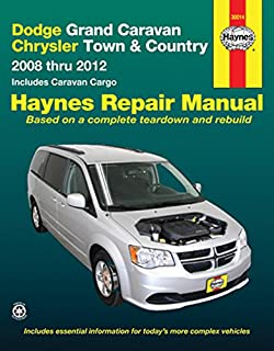 Dodge Grand Caravan and Chrysler Town and Country 2008 Thru 2012 Includes Caravan Cargo