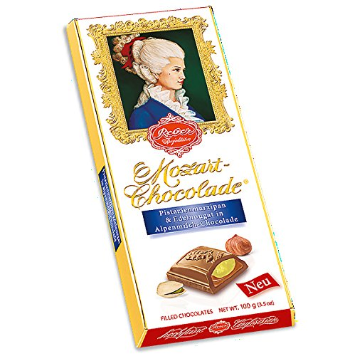 Reber Mozart Chocolade Pistazienmarzipan & Edelnougat