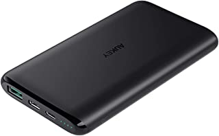 AUKEY USB C Power Bank, 10000mAh Portable Charger, Dual-Output Battery Pack Compatible with iPhone 11/11Pro/Xs/XS Max/XR, Samsung Galaxy Note9, and More