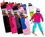 Enfants Thermique Haute Performance Ski Chaussettes Avec Extra Rembourrage 12-3 Pack de 3(Girls)
