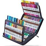 120 Colors Art Markers Set, Ohuhu Dual Tips Coloring Brush Fineliner Color Marker