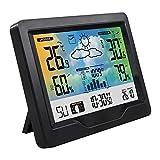 WYBFZTT-188 Pronóstico estación estación meteorológica inalámbrica de Interior al Aire Libre con Tiempo de Temperatura Digital al Aire Libre y de Humedad atmosférica
