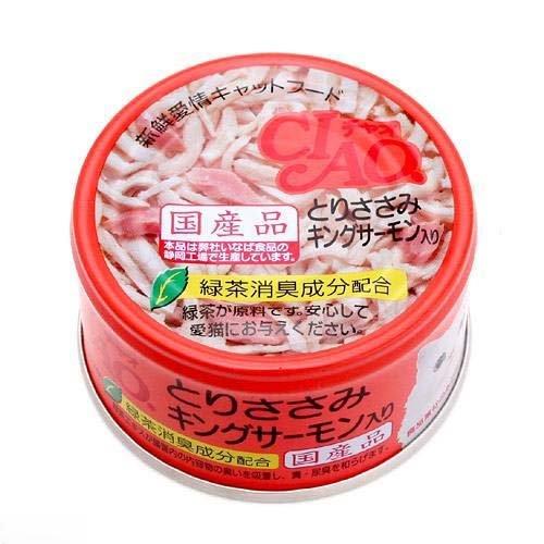 チャオ とりささみ&キングサーモン 85g×24缶
