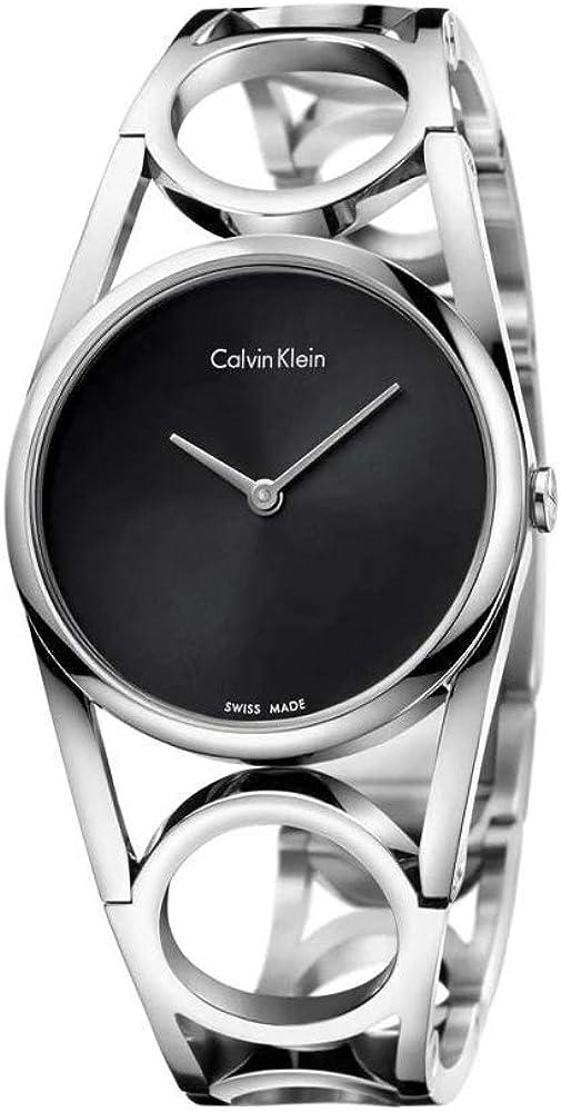Calvin Klein, Orologio Analogico al Quarzo da Donna,  in Acciaio Inossidabile K5U2S141