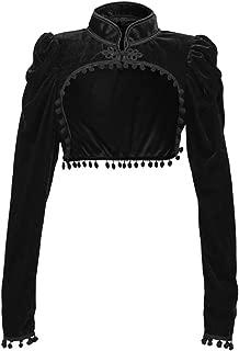 Women's Sexy Steampunk Gothic Bolero Long Sleeve Shrug tassel Jacket for party with