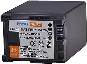 PowerTrust 1Pcs 2900mAh BP-828 BP828 Battery for Canon HFS30 HF20 HG20 G30 G40 XA20 XA25 HFM300 HFM30 HFG30 HFG10 HFM40 Camcorder Battery
