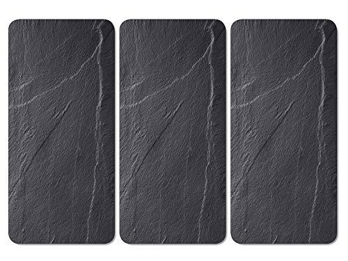 Kesper 36553 13 Motiv: Schiefer Multi-Glasschneideplatte, Glas, Schwarz