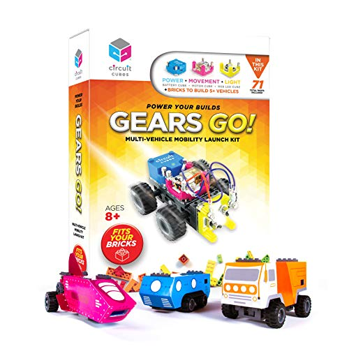 Circuit Cubes Gears GO! Multi-Vehicle Mobility Launch Kit - Engineering STEM Kit for Children and...