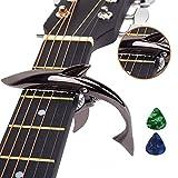 Imelod Capo Guitar Capo Squalo capo per Chitarra Acustica ed Elettrica, in lega di zinco p...